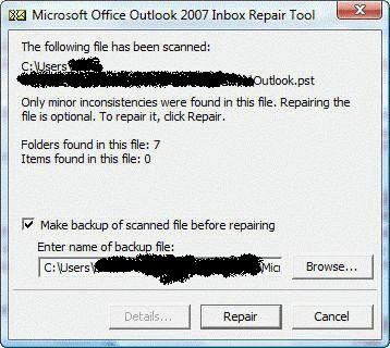 How to repair Outlook data files using Scanpst exe | heroe's