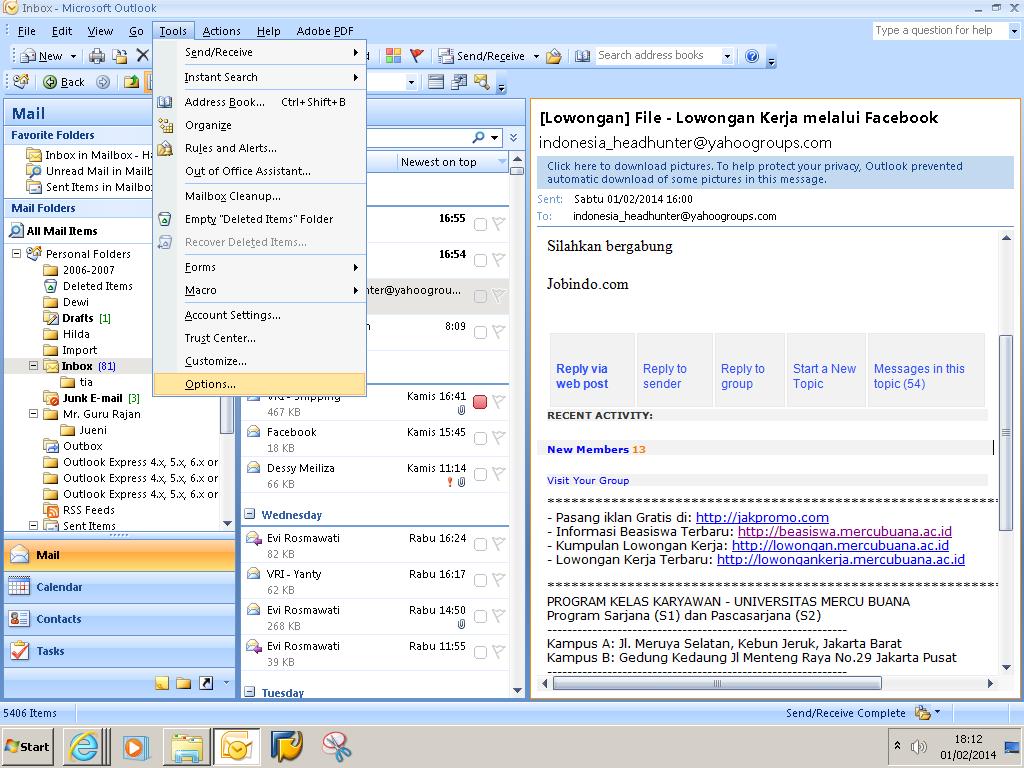 Email background image outlook - Pada Jendela Options Pilih Tab Mail Format Kemudian Klik Stationery And Fonts