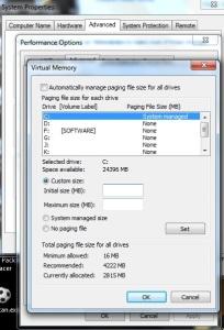 custom v-memory